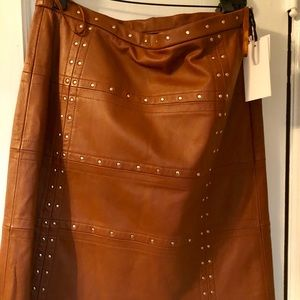 Brand new with tags W Worth Leather skirt